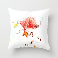 soul Throw Pillows featuring Soul. by Mary Berg