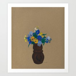 Odilon Redon - Pansies Art Print
