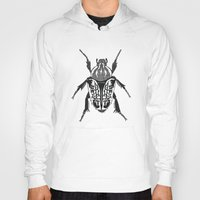 beetle Hoodies featuring Beetle by Rhiannon Foster