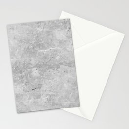 Gray Concrete Stationery Cards
