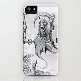 Time waits for no one iPhone Case