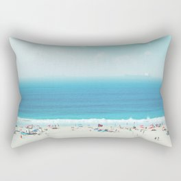 Elevated View Of Beach Of A Summer Day Rectangular Pillow