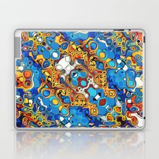 Orange And Blue Abstract Laptop & iPad Skin