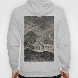 The infinitely great and the infinitely little - Félix Pouchet - 1874 Ink Volcano Illustration Hoody