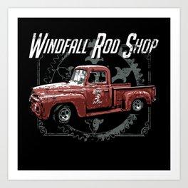 Windfall Rod Shop Art Print