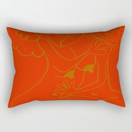 Gemini - Red Rectangular Pillow