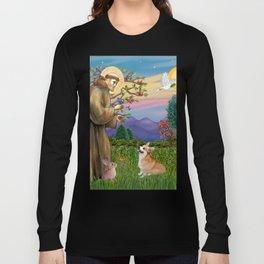 Saint Francis Welsh Corgi (Pembroke) Long Sleeve T-shirt