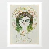 daria Art Prints featuring Daria by Nina Le Corre