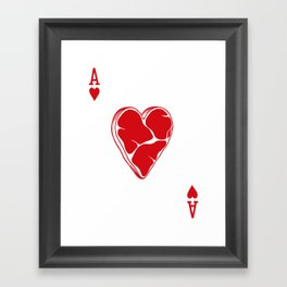Delicious Deck: The Ace of Hearts Framed Art Print