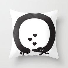Butt Friends Throw Pillow