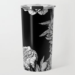 FLOWERS IN BLACK AND WHITE Travel Mug