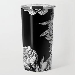 FLOWERS IN BLACK AND WHITE Travel Mug
