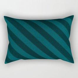 Vintage Candy Stripe Turquoise Teal Grunge Stripes Rectangular Pillow