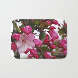 Spring blossoms - Strawberry Parfait Crabapple Bath Mat