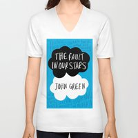 tfios V-neck T-shirts featuring TFiOS by Hoeroine