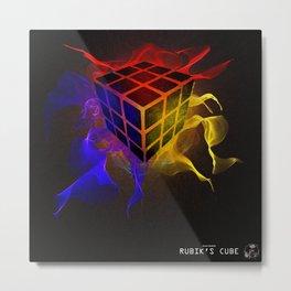A Tribute to Rubik Metal Print