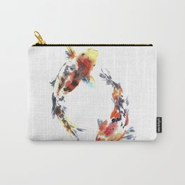 Koi fishes. Japanese style. Watercolor design Carry-All Pouch