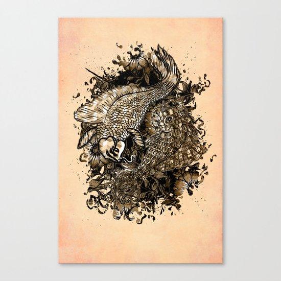 GOLDEN PISCES Canvas Print