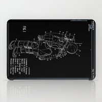 nasa iPad Cases featuring NASA Space Suit Patent - White on Black by Elegant Chaos Gallery