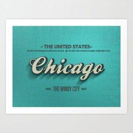 Vintage Chicago Art Print
