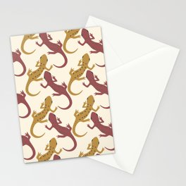 Spotted Newt (Mustard) Stationery Cards