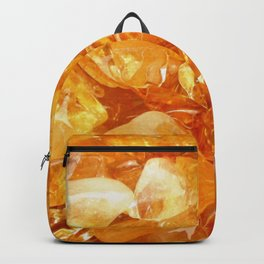 """Amber Quartz Solar Orange Crystal Opal Gem Stone"" Backpack"