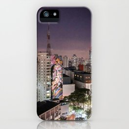 Graffiti in Paulista Avenue iPhone Case
