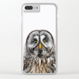 Owl Print Clear iPhone Case