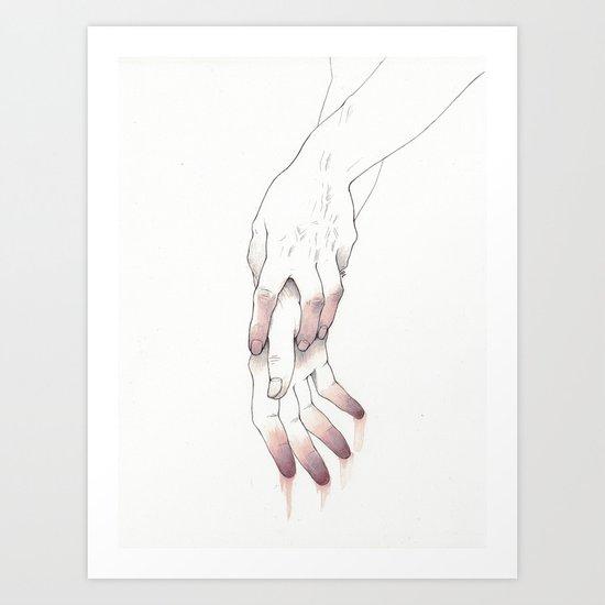 Untitled Hands No. 12 Art Print