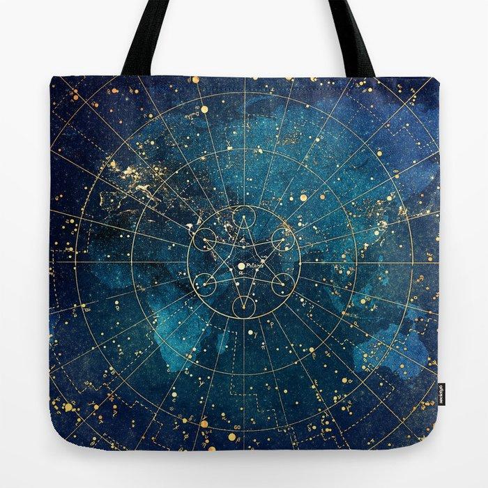 Star Map :: City Lights Tote Bag