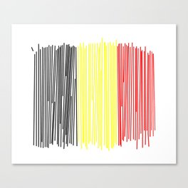 Belgian flag Canvas Print