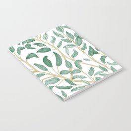 Green Leaf Pattern Notebook