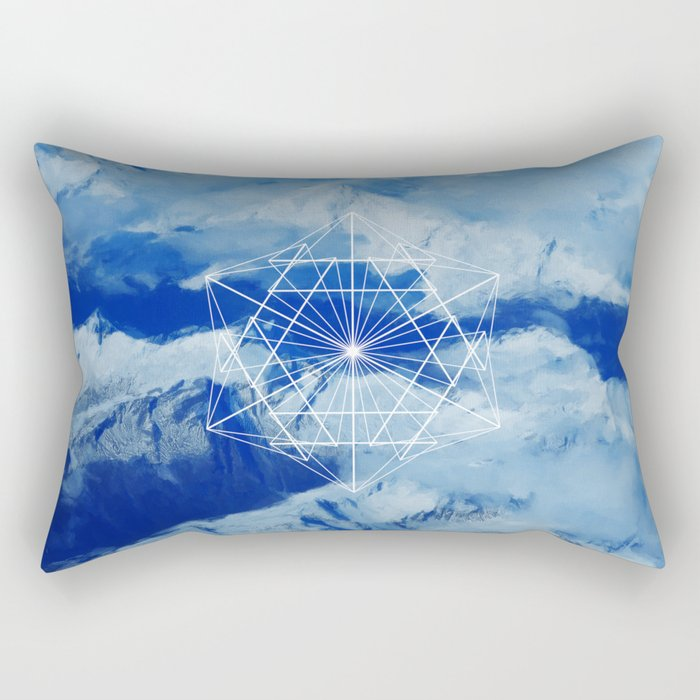 Mountains, Clouds and Geometry Rectangular Pillow