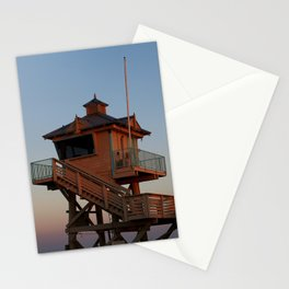Guard Tower At Dusk Stationery Cards