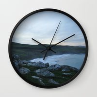 new zealand Wall Clocks featuring New Zealand by Tasha Jo