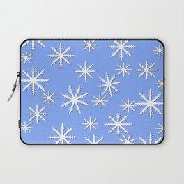Snowflake Print Laptop Sleeve