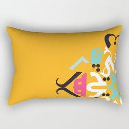 Orange Arabic Rectangular Pillow