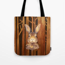 Rabbit in the forest - abstract animal hare watercolor illustration Tote Bag