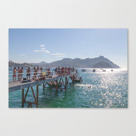 The happy ones of San Sebastián Canvas Print
