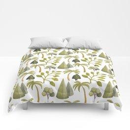 Watercolor Forrest Comforters