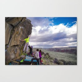 Climbing with a View Canvas Print