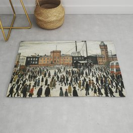 Going To Work L.S Lowry Rug