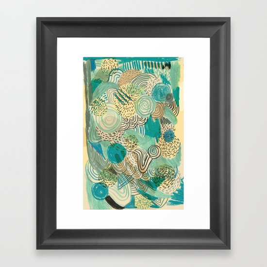 Holidays at the pool Framed Art Print