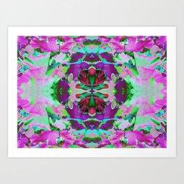 Psycho Exotic, The Lotus Flower Art Print