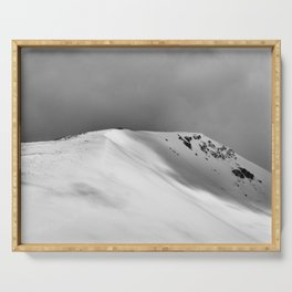 Snow Covered Mountain Slope Serving Tray