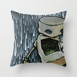 Robot - Impinging On My Heart Throw Pillow