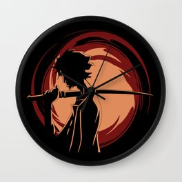 Modern Samurai Wall Clock