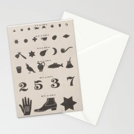Antique Symbol Vision Chart Stationery Cards