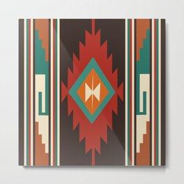 American Native Pattern No. 32 Metal Print