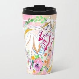 Strawberry Cake Watercolor Travel Mug
